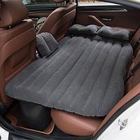Надувной матрас в машину на заднее сиденье с насосом, черный