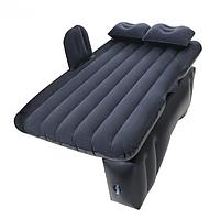 Надувной матрас в машину на заднее сиденье с насосом с отдельной тумбой, черный