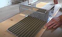 Раздвижная гребенка для укладки плитки 10*10мм. Зубчатый шпатель для клея до 66см, фото 1