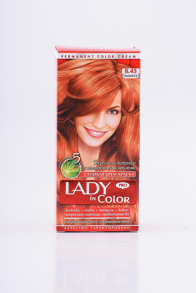 Lady in color фарба для волосся №8.43 Манго