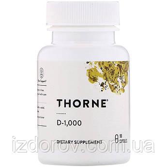 Thorne Research, Витамин D3 1000 ME, 90 капсул