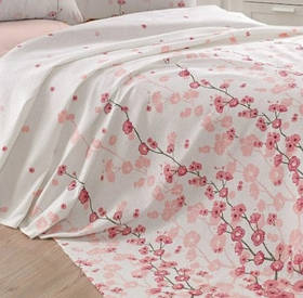Покрывало пике Eponj Home - Coretta a.pembe розовый вафельное 160*235