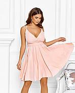 Нарядне жіноче плаття з красивим відкритим декольте, 00640 (Персиковий), Розмір 44 (M), фото 2
