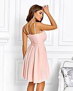 Нарядне жіноче плаття з красивим відкритим декольте, 00640 (Персиковий), Розмір 44 (M), фото 3