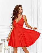 Великолепное платье на бретельках с чуть завышенной талией, 00642 (Красный), Размер 42 (S), фото 3