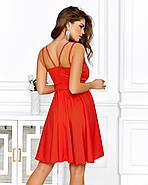 Великолепное платье на бретельках с чуть завышенной талией, 00642 (Красный), Размер 42 (S), фото 4