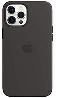Силиконовый чехол IPhone 12 Pro Max Silicone Case with MagSafe Black ОРИГИНАЛ