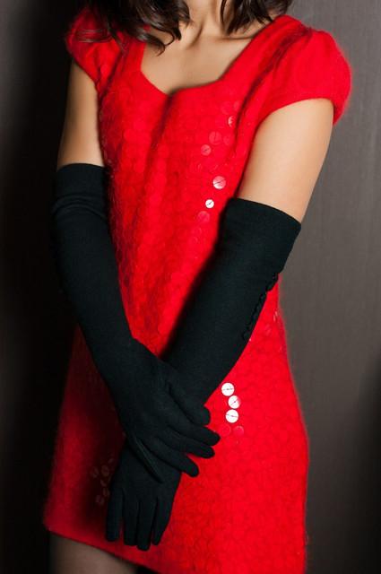Стрейчевые женские перчатки