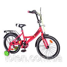 Велосипед дитячий двоколісний Tilly T-218111 Explorer, 18 дюймів, малиновий