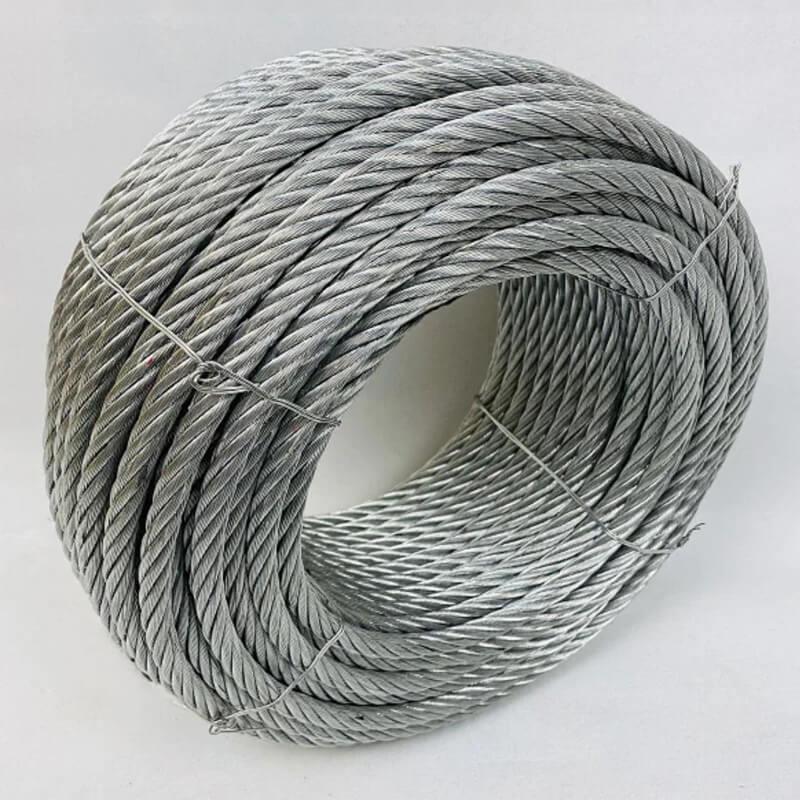 Трос сталевий оцинкований ISO 2408 (6х12) 14 мм 50 м