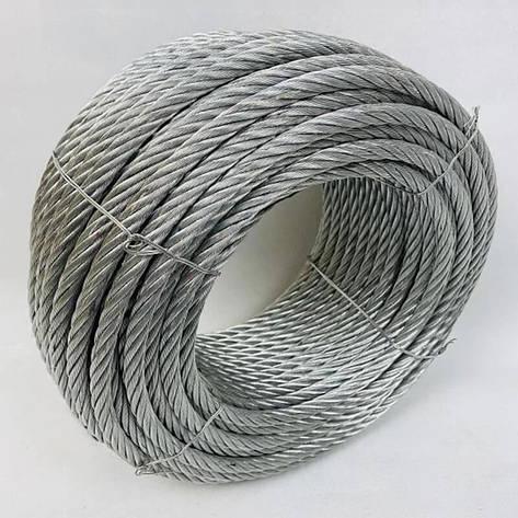Трос сталевий оцинкований ISO 2408 (6х12) 14 мм 50 м, фото 2