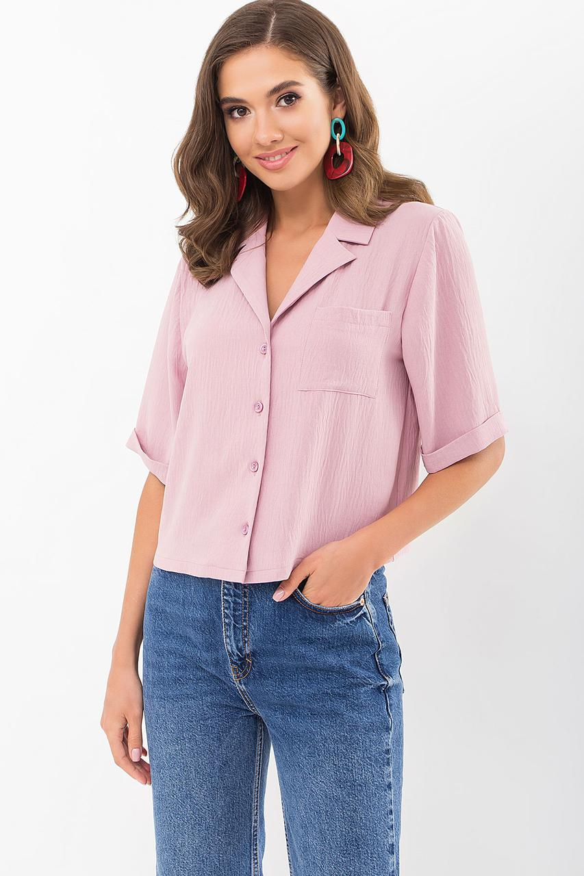 Женская свободная блузка из жатки размер S M L XL