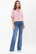 Женская свободная блузка из жатки размер S M L XL, фото 2
