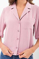 Женская свободная блузка из жатки размер S M L XL, фото 3