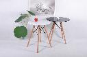 Стіл круглий білий на кухню, обідній стіл Signal Soho 80х80 см Білий (SOHOBBU)на букових ніжках, фото 5