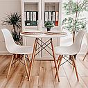 Стіл круглий білий на кухню, обідній стіл Signal Soho 80х80 см Білий (SOHOBBU)на букових ніжках, фото 6
