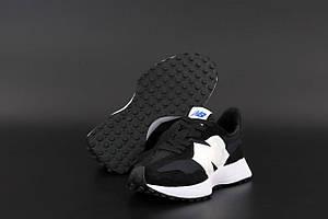 Кроссовки New Balance 327 Black (Кроссовки New Balance 327 черно-белого цвета женские и мужские размеры 36-45)