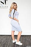 Повсякденне сукня вільного крою Турецька двунітка Розмір 48-50 52-54 В наявності 4 кольори, фото 7