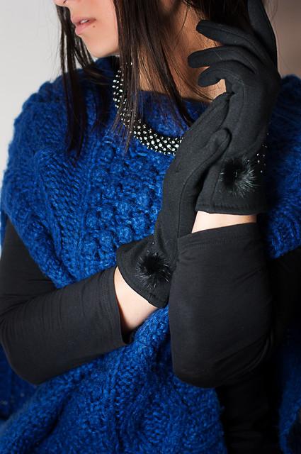 Кашемировые женские перчатки