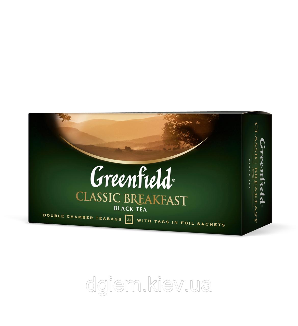"Чай черный CLASSIC BREAKFAST 2гх25шт. ""Greenfield"" , пакет"