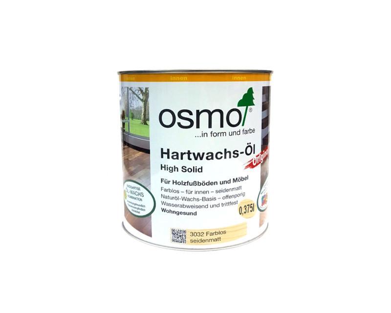 Масло з твердим воском OSMO HARDWACHS-OL ORIGINAL для підлоги та виробів з деревини 3032-шовк.-матове 0,375 л