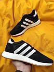 Мужские кроссовки Adidas Iniki Runner (черно-белые) D108 качественная стильная обувь, фото 3