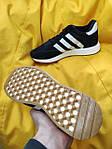 Мужские кроссовки Adidas Iniki Runner (черно-белые) D108 качественная стильная обувь, фото 5