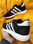 Мужские кроссовки Adidas Iniki Runner (черно-белые) D108 качественная стильная обувь, фото 6