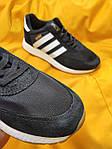 Мужские кроссовки Adidas Iniki Runner (черно-белые) D108 качественная стильная обувь, фото 7