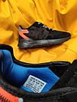 Мужские кроссовки Adidas Nite Jogger 3M (черный с оранжевым) D109 весенние стильные кроссы, фото 2
