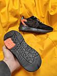 Мужские кроссовки Adidas Nite Jogger 3M (черный с оранжевым) D109 весенние стильные кроссы, фото 3