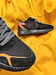 Мужские кроссовки Adidas Nite Jogger 3M (черный с оранжевым) D109 весенние стильные кроссы, фото 4