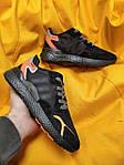 Мужские кроссовки Adidas Nite Jogger 3M (черный с оранжевым) D109 весенние стильные кроссы, фото 7