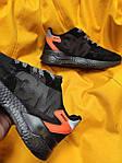 Мужские кроссовки Adidas Nite Jogger 3M (черный с оранжевым) D109 весенние стильные кроссы, фото 8
