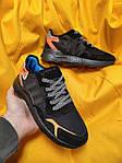 Мужские кроссовки Adidas Nite Jogger 3M (черный с оранжевым) D109 весенние стильные кроссы, фото 9