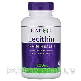 Natrol, Лецитин, 1200 мг, 120 мягких таблеток