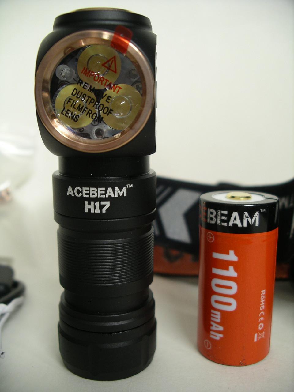 Ліхтар Acebeam H17 3 x NICHIA 219C LEDs CRI≥90 5000K