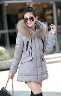 Куртка женская - пуховик, цвет серый