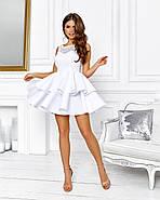 Роскошное платье с открытой спиной на выпускной юбка из неопрена, 00645 (Белый), Размер 44 (M), фото 2