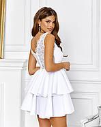 Роскошное платье с открытой спиной на выпускной юбка из неопрена, 00645 (Белый), Размер 44 (M), фото 3