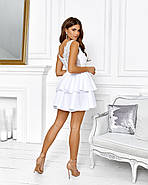 Роскошное платье с открытой спиной на выпускной юбка из неопрена, 00645 (Белый), Размер 44 (M), фото 4