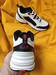 Мужские кроссовки Nike Air Monarch (бело-черно-красные) D110 модная обувь на летний сезон, фото 5
