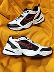 Мужские кроссовки Nike Air Monarch (бело-черно-красные) D110 модная обувь на летний сезон, фото 6