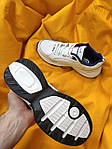 Мужские кроссовки Nike Air Monarch (бело-синие) D111 крутая обувь на летний сезон, фото 2
