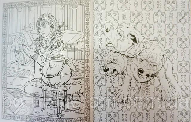 гаррі поттер книжка розмальовка гарри поттер раскраска