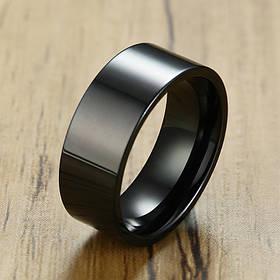 Полностью черное мужское кольцо 8 мм. Размеры: 17-22. Обручальные кольца для мужчин черное
