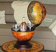 Глобус бар настольный Древняя карта коричневый сфера 33 см Гранд Презент 33002R