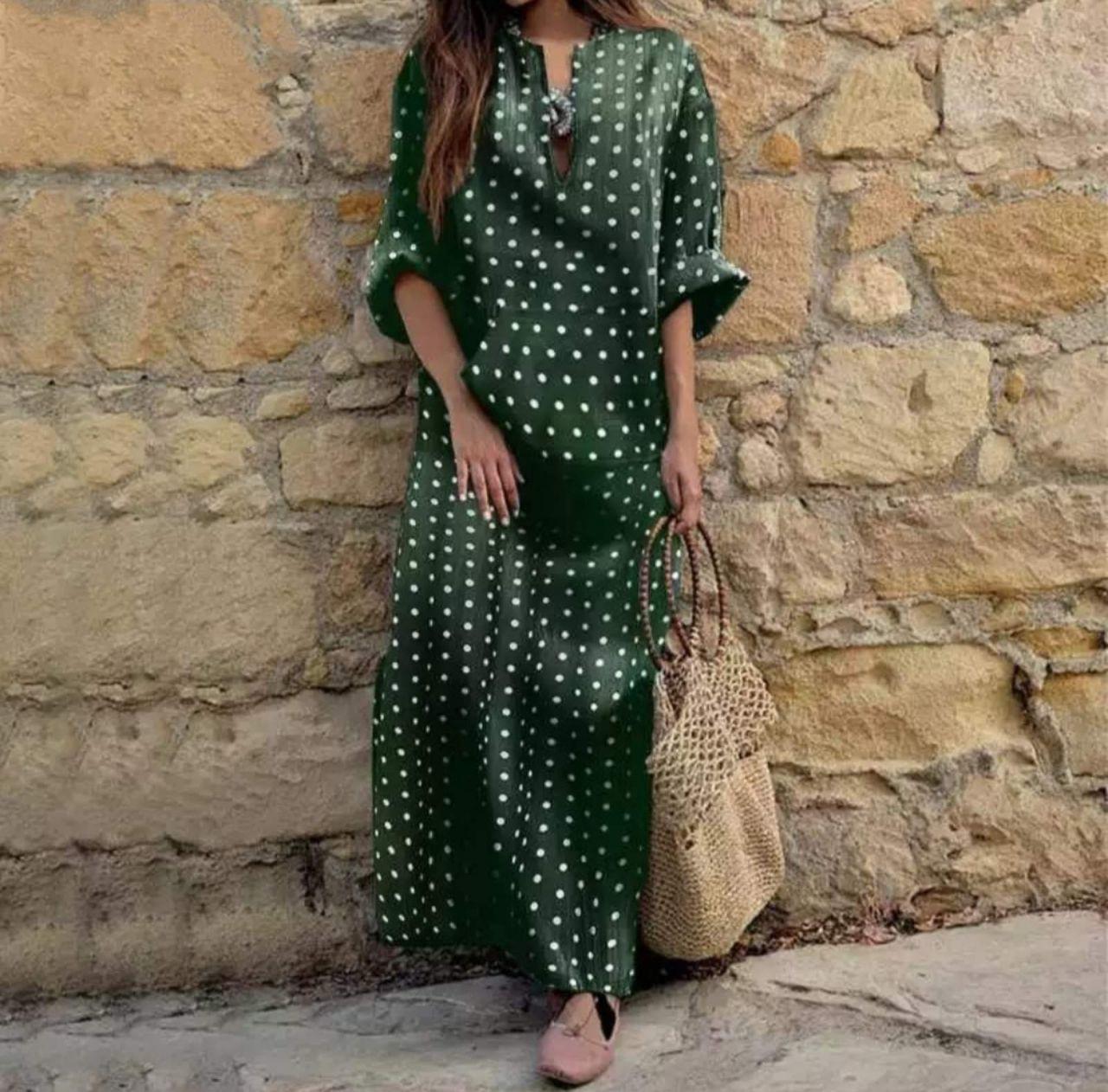 Женское платье, супер - софт, р-р универсальный 42-46; 48-52 (зелёный)