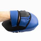 Лапы боксерские (для бокса) гнутые из кожвинила OSPORT Pro (OF-0080), фото 3