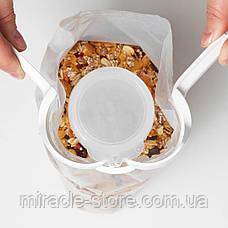 Зажим для пакетів з кришкою 14х6 см, фото 3